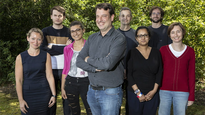 Dr. Jörg Tost, Director of the Laboratory for Epigenetics and Environment at CEA, and his lab members